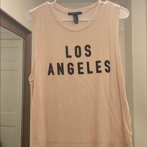 Sleeveless Los Angeles Forever 21 tank